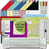 Cricut Explore Air 2 Machine Beginner Set: Shimmer Party Paper, Essential Tools, GripMat, and Writing Pen Set