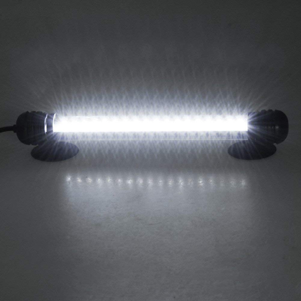 Fish Tank Light Under Water Light Submersible Crystal Glass Lights Mingdak LED Aquarium Light