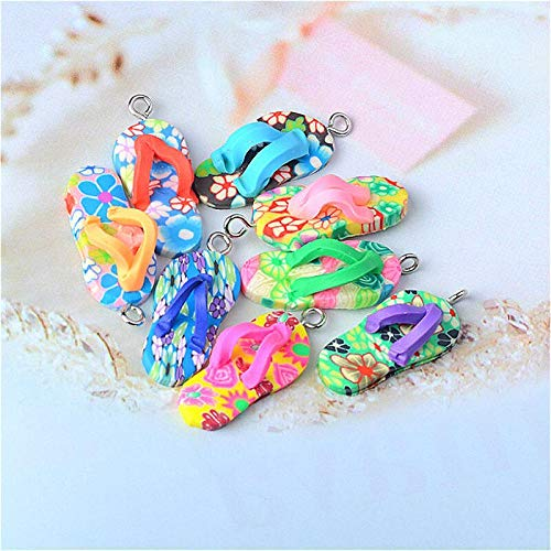 Slime charms 10pcs-bag Soft Clay Slippers Decoration Pendant Slime Supplies Super Light Clay Charms Glue Mud Crafts Materials 3
