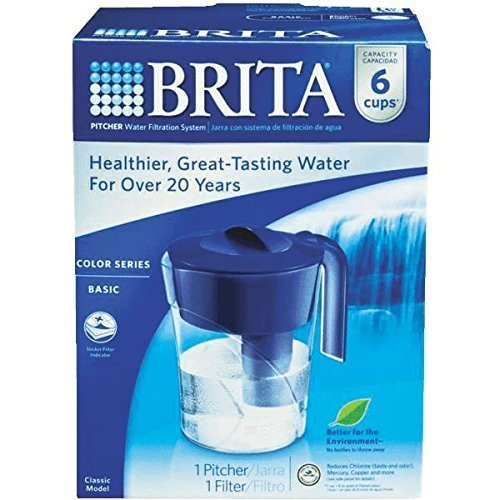 Brita Classic Pitcher, 6 Cup, Navy Blue by Clorox Sales Co Brita Div - Clorox Brita Classic Pitcher