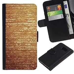 LECELL--Cuero de la tarjeta la carpeta del tirón Smartphone Slots Protección Holder For Sony Xperia Z3 Compact -- Vintage pared de ladrillo --