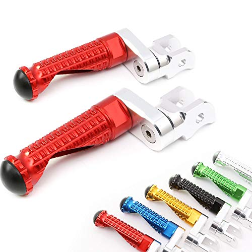 MC Motoparts MPRO Red 25mm Extended Front CNC Footpegs For Ducati 749 999 03-06 Monster S2R 1000 07-08 S4R