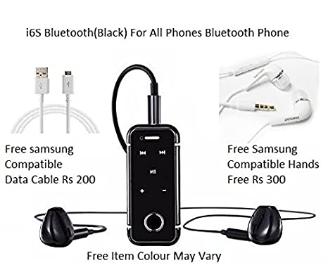 65dd3e94683 Apple iPhone Compatible i6S Black Bluetooth V 4.1 Headsets with Vibration &  Call Function & Dolby