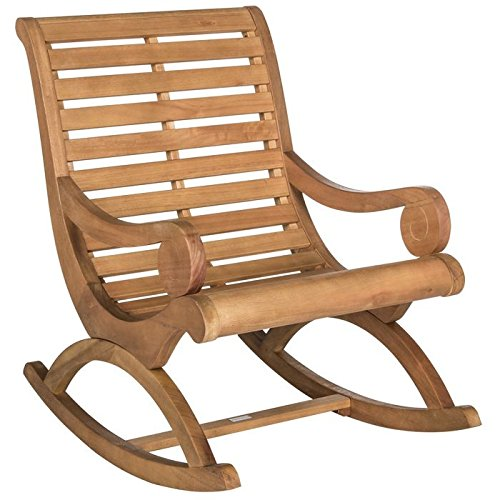 Safavieh Outdoor Collection Sonora Teak Brown Rocking Chair