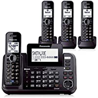 Panasonic KX-TG9542B Dect 6.0 2-Line Cordless Phone System w/ Link-to-Cell & 2 TGA950B Handsets