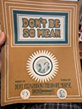 img - for Don't Be So Mean [piano solo] book / textbook / text book