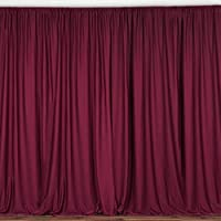 BalsaCircle 10 feet x 10 feet Burgundy Polyester Backdrop Drapes Curtains Panels - Wedding Ceremony Party Home Window Decorations