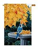 Breeze Decor BI-H-105036-IP Autumn Birdbath Decorative Vertical House Flag, 28