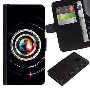 All Phone Most Case / Oferta Especial Cáscara Funda de cuero Monedero Cubierta de proteccion Caso / Wallet Case for Samsung Galaxy S5 Mini, SM-G800 // Colorful Lens Flare Close Up