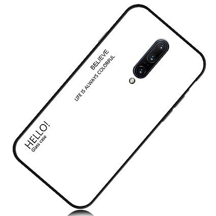 Amazon.com: Yoodi OnePlus 7 Pro Funda, Gradient Vidrio ...