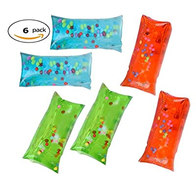2 Inch Water Snake Water Wigglies, Wigglers with Colorful Beads and Glitter Set of 6