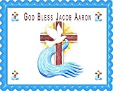 Holy Cross for Christening Edible Cake Topper & Cupcake Toppers - 10'' x 16'' (half sheet) rectangular inches