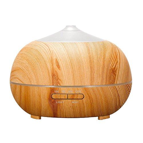 huoaoqiyegu 400ml Wood Grain Essential Oil Office Aroma Humidifier Diffuser Purifier Atomizer Air Fan Air Humidifier for Home