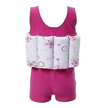 funny365 Fashion niña Bañador de flotador de flotabilidad de una sola pieza traje de bano desmontable, Rosa: Amazon.es: Deportes y aire libre
