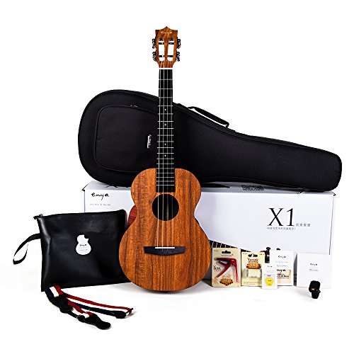 Enya EUB-X1 Baritone Ukulele 30inch HPL Ukelele Beginner Kit with Padded Gig bag,String,Tuner,Strap,Capo,Picks,Polishing cloth by ENYA