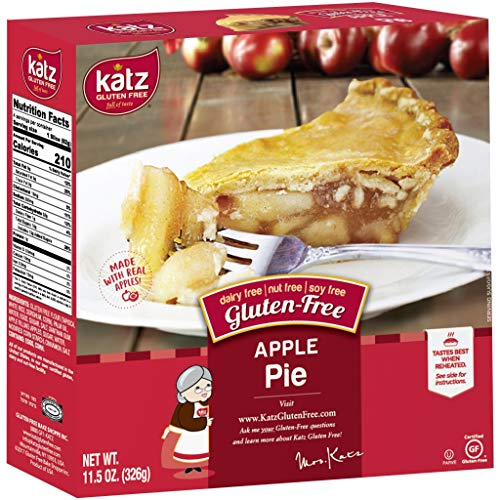 Katz Gluten Free Personal Size Apple Pie | Dairy, Nut, Soy and Gluten Free | Kosher (1 Pack of 1 Pie, 11.5 Ounce)
