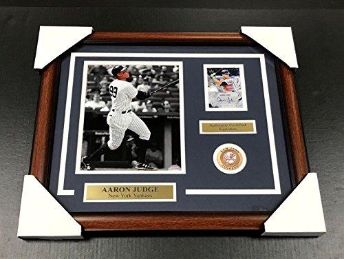 AARON JUDGE NEW YORK YANKEES Autographed SIGNED Card 8x10 PHOTO FRAMED (New York Yankees Signed Photo)