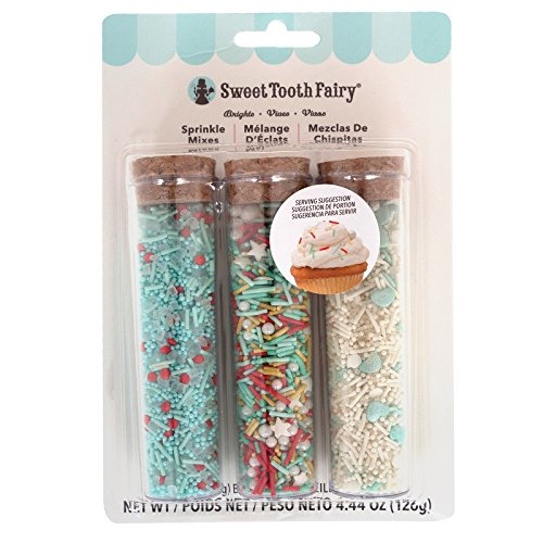 (Sweet Tooth Fairy 378886 3 Piece Brights Party Mix Sprinkles, Multi)