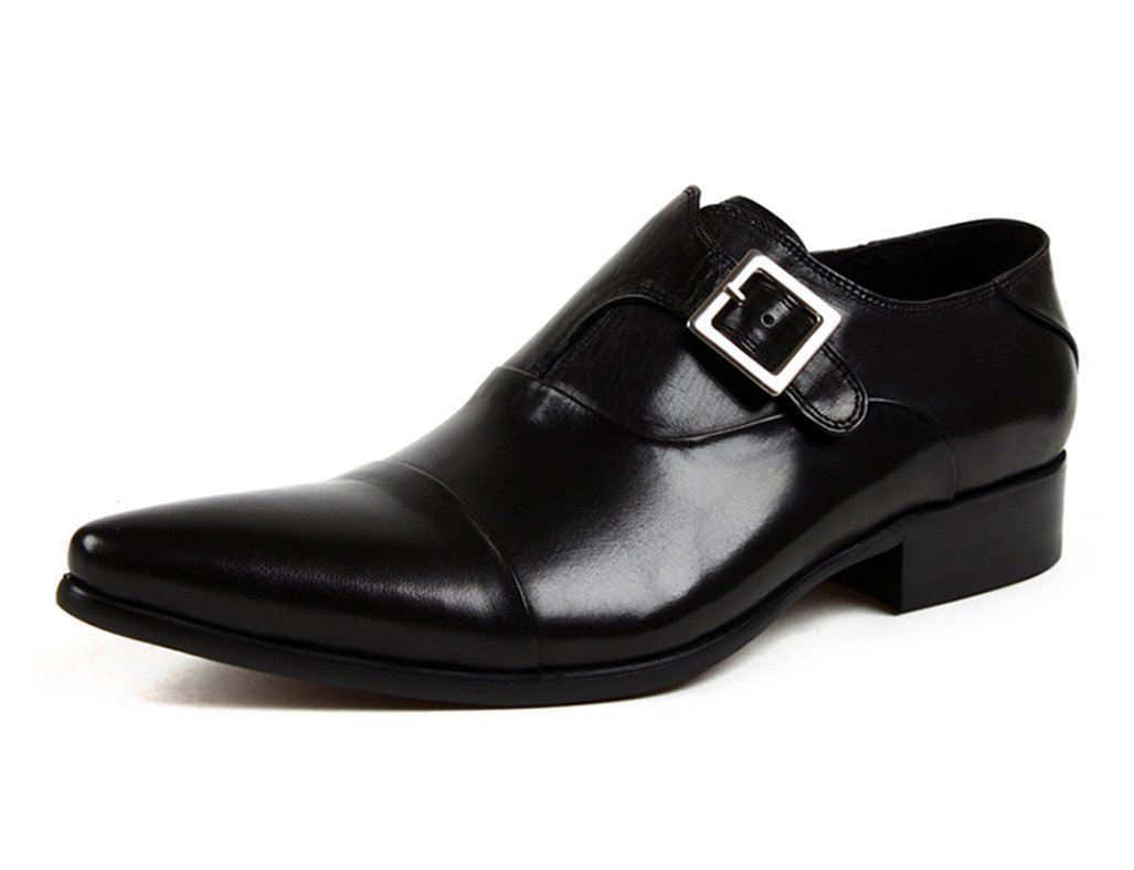 Zapatos Clásicos de Piel para Hombre Zapatos de Cuero para Hombres Ropa Formal para Negocios Zapatos únicos Transpirables con Punta (Color : Negro, Tamaño : EU39/UK6) EU39/UK6|Negro