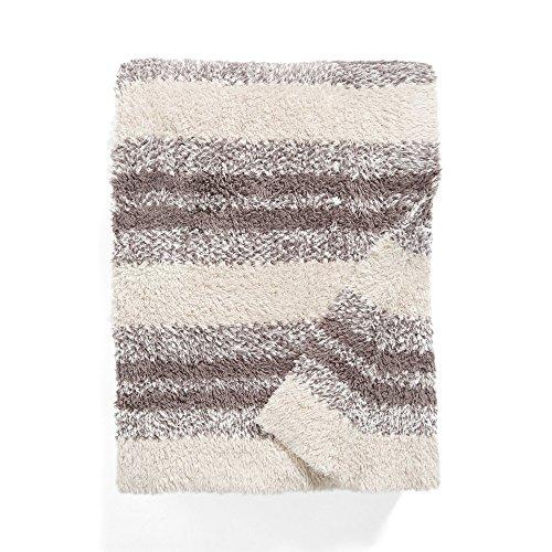 Barefoot Dreams Microfiber Towels - Barefoot Dreams Cozychic Multi Stripe Heathered Blanket 45