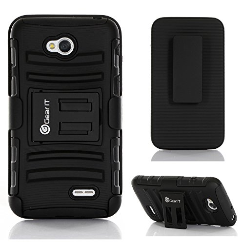 GearIt LG G3 Optimus Case - High Impact Hybrid Armor Dual Layer Cover Stand Holster (AT&T, Sprint, T-Mobile & Verizon Wireless) - Black
