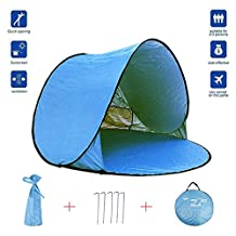 HuaJian Camping Beach Shade Tents Baby Beach Tent Sun Shelters Beach Tent Fully Automatic Build Portable for Beach Park Camping Fishing