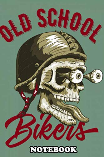Notebook: Old School Bikers Club , Journal for Writing, College Ruled Size 6