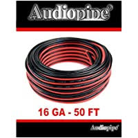 Audiopipe 50 Feet 16 GA Gauge Red Black 2 Conductor Speaker Wire Audio Cable