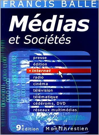 Livre gratuits en ligne Médias et sociétés, 9e édition pdf epub