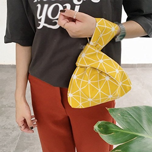 Card Clutch Pouch Bag Small Running Wallet Handbag Holder Wrist Credit Money Sacks Yellow Foldable Rucksacks Women Storage LAAT Tote Purse Bag Carry CpzOYqY