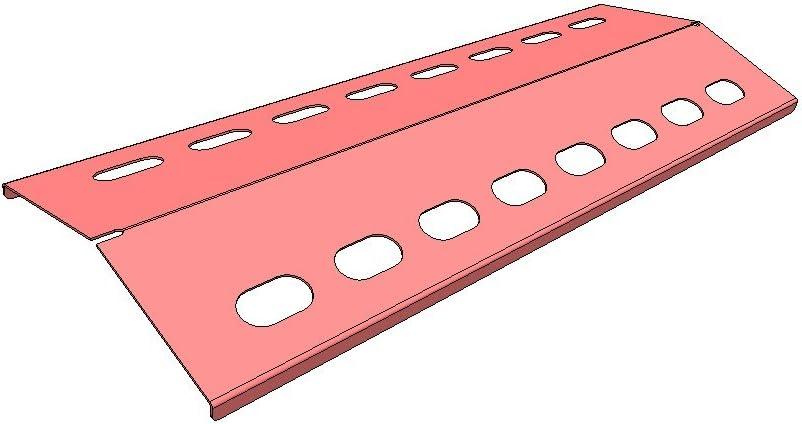 Manufaktur Stollenwerk Placas de Calor de Acero Inoxidable, Escudo de Calor, Funda de Recambio para Varios Modelos de Parrilla de Gas (385x100x1 mm)