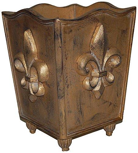 Hickory Manor House Ornate Fleur de lis Trash Can (Fleur Lis Mirror De)