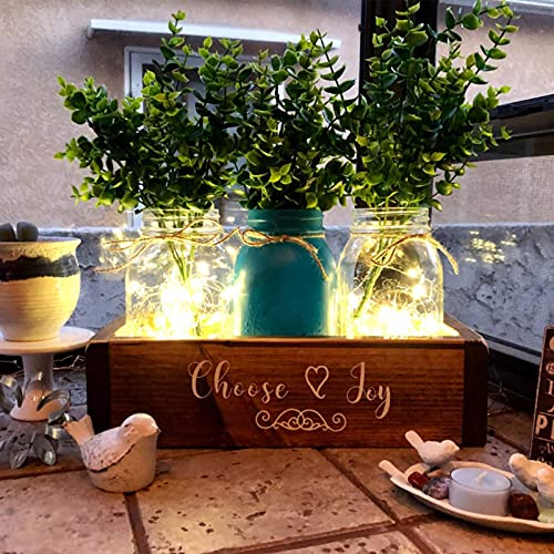 Hopewood Artificial Eucalyptus Leaves Stem,Fake Silver Dollar Plants,s 4 Pcs Each 7 Branches Faux Greenery 15.7