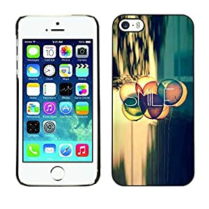 LASTONE PHONE CASE / Slim Protector Hard Shell Cover Case for Apple Iphone 5 / 5S / Smile Quote Positive Life Attitude Motivation
