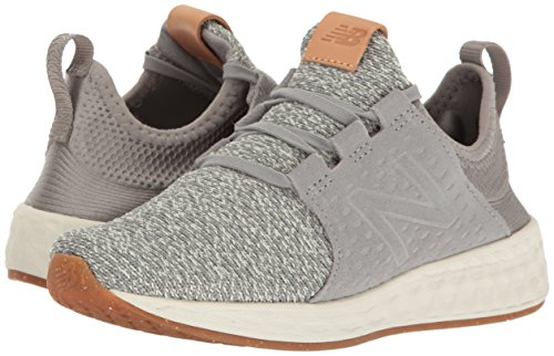41VHbKKWQ8L New Balance Women's Fresh Foam Cruz v1 Running Shoe, Grey/Sea Salt, 9.5 B US