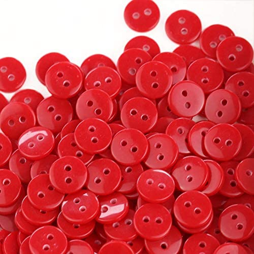 GANSSIA 5//8 Sewing Flatback Buttons 15 Colors Multi Pack of 300 Pcs with Box 15mm