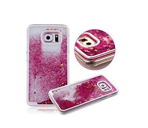 FUN CASE pink für Iphone 6 Plus Handy Cover Hülle Case Glitzer Sterne Flüssig Sternenstaub Hard Case