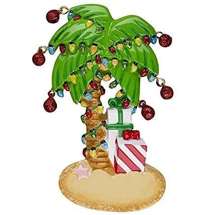 Amazon Com Christmas Palm Tree Personalized Christmas Tree Ornament