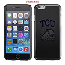 iPhone 6 6S Case,Tcu Horned Frogs Texas Christian 9 Drop Protection Never Fade Anti Slip Scratchproof Black Hard Plastic Case 4.7 inch