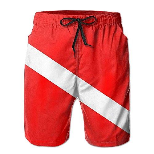 Scuba Dive Flag Men's Summer Casual ShortsL