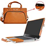 """Yoga 720 13 Case,2 in 1 Accurately Designed Protective PU Leather Cover + Portable Carrying Bag For 13.3"""" Lenovo Yoga 720 13 720-13ikb Series Laptop(not fit Yoga 710/Yoga 720 15.6 & 12.5),Brown"""