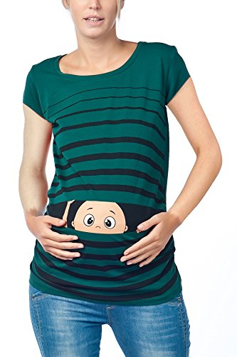 Scuro Moda Divertente Regaio Borraccia Codolo Manica Verde shirt Push Dolce Corta Motivo T Schwa Con vvwE6q