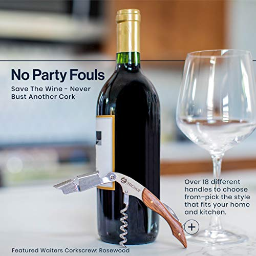HiCoup – All-in-one Waiters Corkscrew, Bottle Opener and Foil Cutter, the Favoured Choice of Sommeliers, Waiters and Bartenders Around the World (Pearl Black Resin)