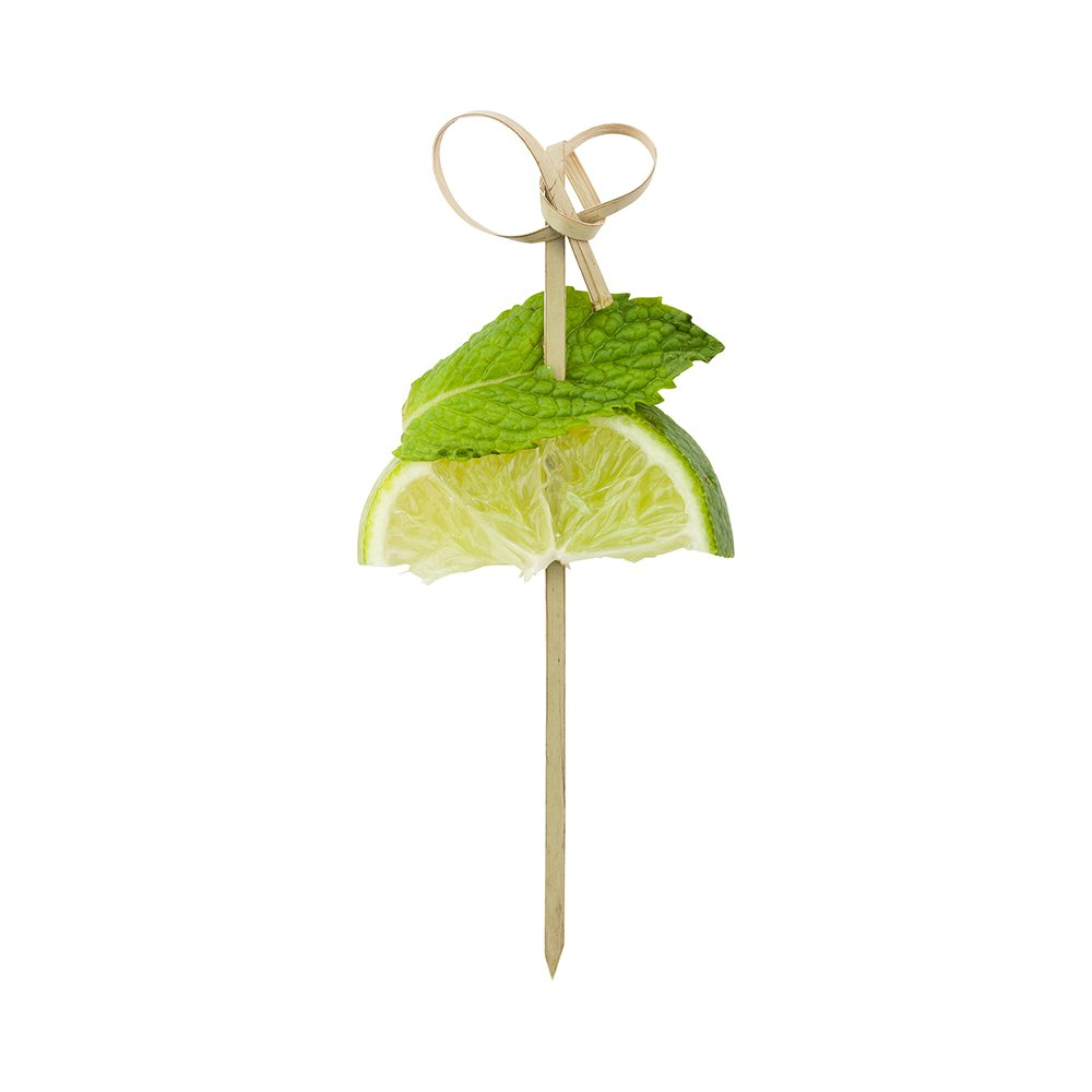 Bow Tie Bamboo Skewer - 4-inch Natural Bamboo Color Skewers: Perfect for Serving Appetizers and Cocktail Garnishes - 1000-CT - Disposable and Eco-Friendly - Restaurantware