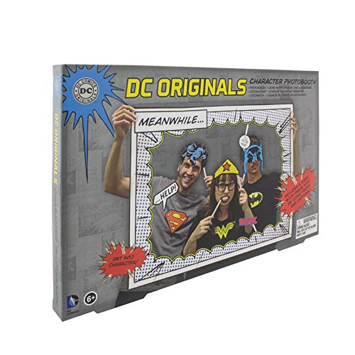 DC Comics Superhero Photobooth Props - Includes 25 Different Character Props and a Photo Frame -