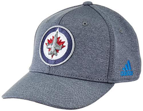 Hat Jets Winnipeg - adidas NHL Winnipeg Jets Structured Flex Hat, Small/Medium, Grey