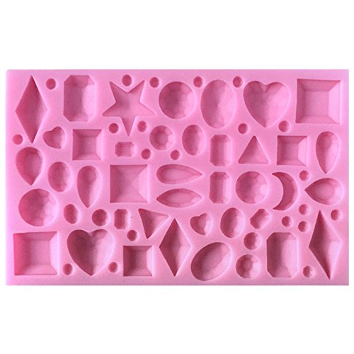 Funshowcase Tiny Diamond Gems Assorted Shapes Silicone Mold, for Cake Cupcake Decorating, Crafting, Polymer Clay, Resin