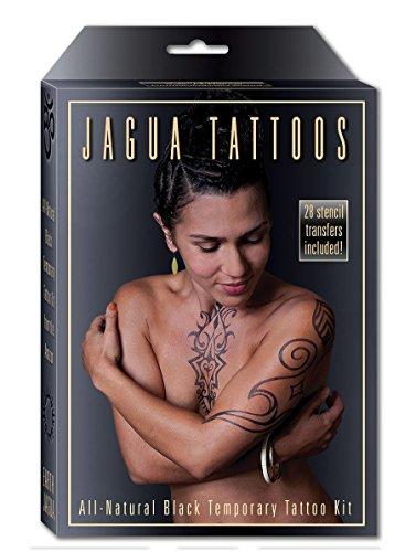 Earth Henna Organic Jagua Black Temporary Tattoo and Body Painting Kit - Black