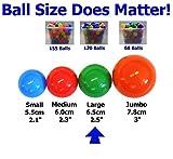 "My Balls Pack of 50 pcs 2.5"" Plastic Ball Pit Balls - Bright Colors Phthalate Free BPA Free non_Toxic"
