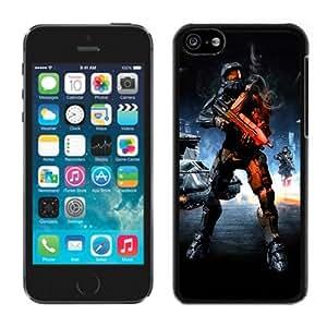 MMZ DIY PHONE CASEhalo battlefield Black Hard Plastic iphone 5c Phone Cover Case